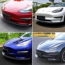 Fit Tesla Model 3 Front Bumper Lip Kit Car Glossy Mods Spoilers For 2017-2021 Tesla Model 3 Accessories (Glossy Carbon Fiber Pattern)