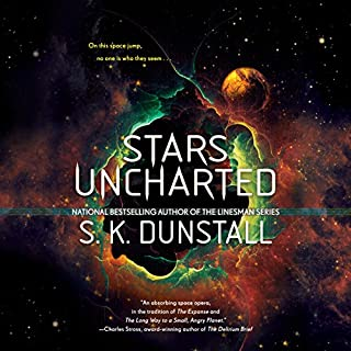 Stars Uncharted                   Written by:                                                                                                                                 S. K. Dunstall                               Narrated by:                                                                                                                                 Emily Woo Zeller                      Length: 13 hrs     1 rating     Overall 2.0
