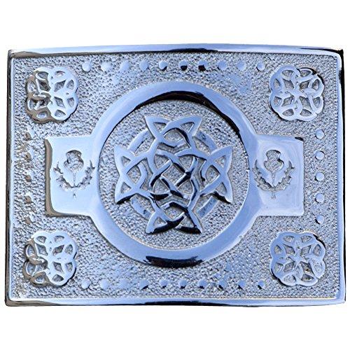 AAR Scottich Kilt Belt Buckle Celtic Knot Design Chrome Finish