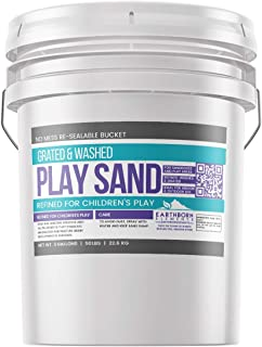Play Sand, 5 Gallon Bucket by Earthborn Elements, Highest Quality, Building & Molding, Promotes Creativity, Sandbox & Play Areas, Indoor/Outdoor, Resealable Bucket (5 gallons)