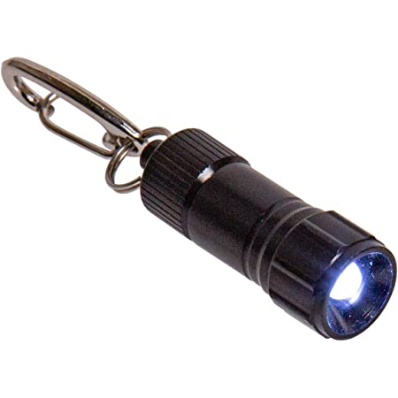 Mini LED Camping Flashlight Torch Keyring Portable Key Chain Aluminum Alloy WA