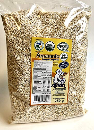 Popped Amaranth Cereal from Ancient Aztec Lands in Mexico, 250gm from Quali
