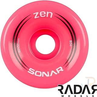Sonar Wheels - Zen - Quad Roller Skate Wheels - 4 Pack of 32mm x 62mm 85A Wheels
