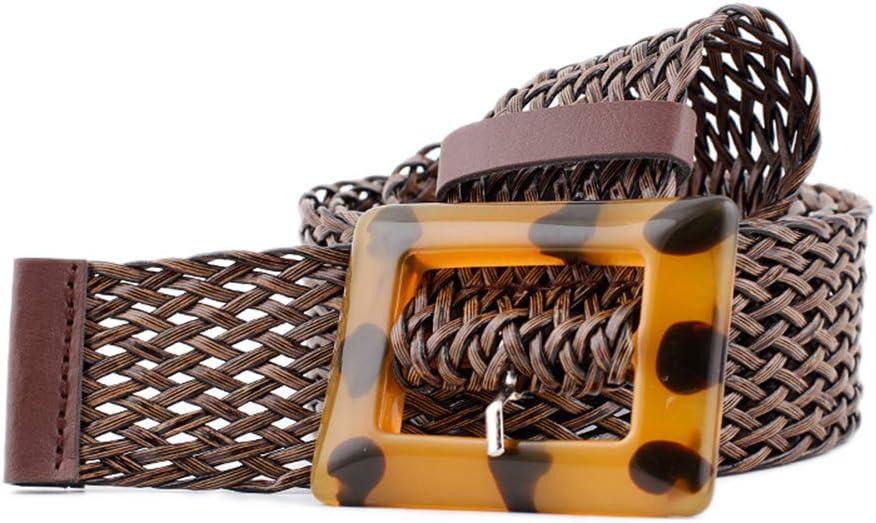 Emorias 1 Pcs Cinturon Cuero Tejiendo Moda Cinturón Hueco Hombre Correas Ocio Ropa Accesorios - Marrón