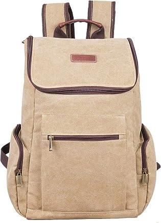 Eurosport Stylish Canvas Backpack Drawstring Magnetic Closures Olive B707