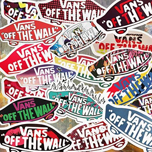 M VANS Skateboarding Stickers - Vans Stickers - Vinyl Matte Stickers - Vans Decks - FIVE RANDOM VANS DECKS