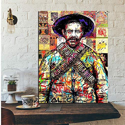nr Graffiti kunst Michael Jackson hoed poster ALEC monpolistisch schilderij op canvas moderne decoratieve wandafbeeldingen Home Decoration -50x70cm zonder lijst