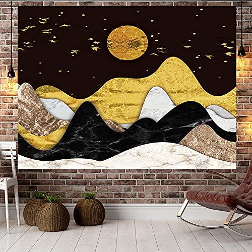 NHhuai Tapiz Tapiz Tapiz Tapiz de Pared para Sala de Estar Dormitorio Colgante de Pared decoración Tela Puesta de Sol colinas