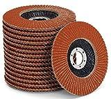 Juego de discos de abanico de alta calidad, color marrón, 10 unidades, diámetro de 125 mm, paquete mixto (2 de grano 40/60, 3 de grano 80/120), estándar