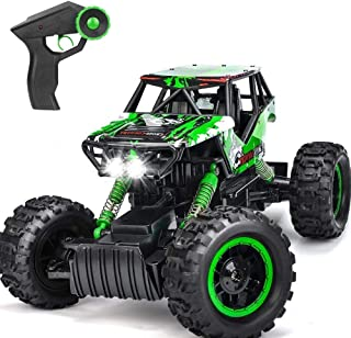 DOUBLE E RC Car Large Scale 1:12 Off-Road Monster Truck 4WD with Two Rechargeable Batteries