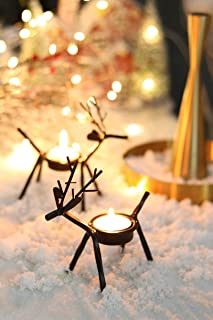 BAZILEVS Set of 6 Reindeer Tea Light Holders