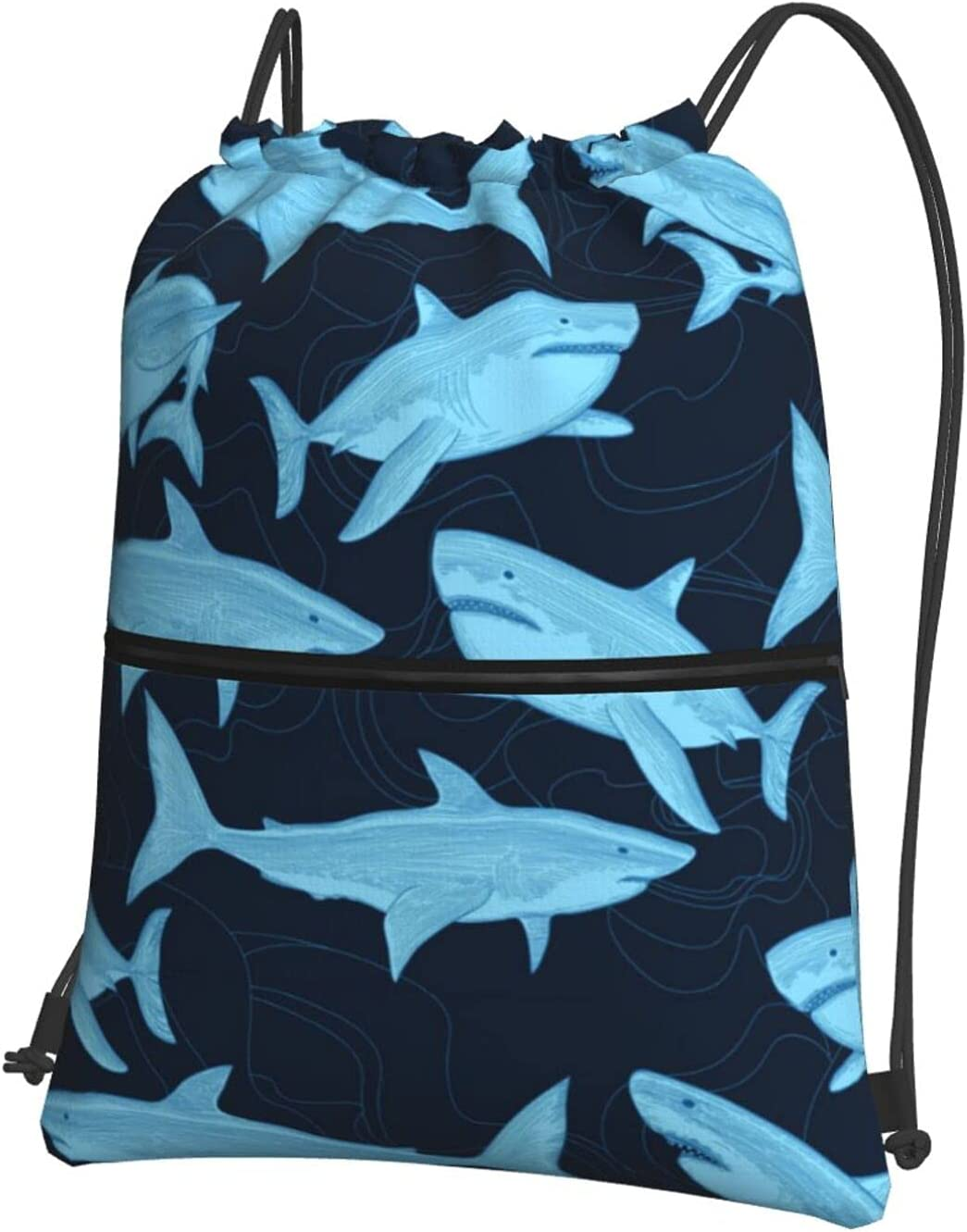 Reindeer Horn Blue Fierce Luxury goods Shark Drawstring Backpack High quality new Sports B Gym