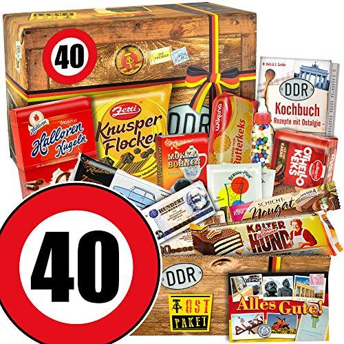 Ossi Paket L - Süssigkeiten Geschenk - Zahl 40 - Geschenke Mann