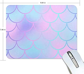 Mouse Pad Pink Blue Fish Skin Gaming Mousepad Laptop Small Thick Mouse Mat Black Personalized Mouse Pads