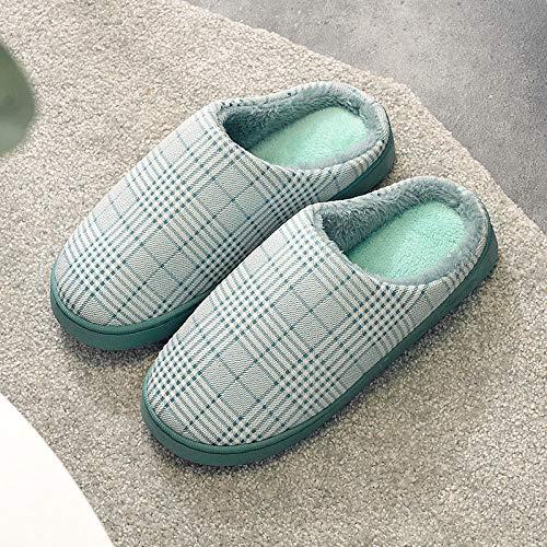 SWX-FlipFlop Zapatillas de algodón abrigado para el hogar de los Hombres Fondo...