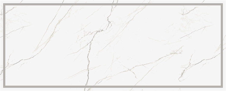 Popular products Unknown1 White Marble Border Decorative Vinyl 2' Floor 5' Superior X Mat