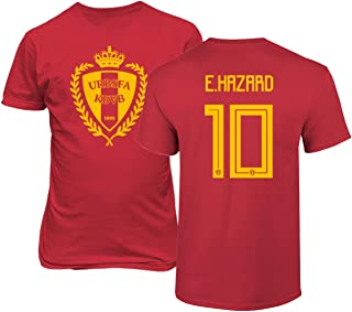 Tcamp Belgium 2018 National Soccer #10 Eden Hazard World Championship Men's T-Shirt