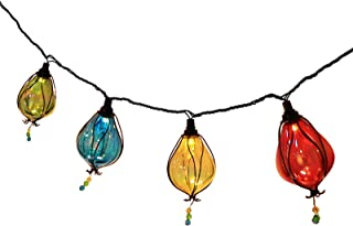 Outdoor Decorative String Lights, 11 Ft Multicolor 10 LED Fairy Bulbs Plug in Connectable Waterproof for Indoor Bedroom Party Christmas Birthday Wedding Patio Lawn Decoration