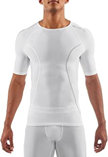 Skins DNAmic Mens Short Sleeve Top - White - X Small