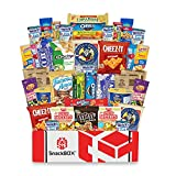 Care Package for College Students Snack Box (40 Count) Great For Studying, Exams, Easter, Date...