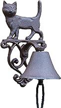 Gietijzeren Deurbel Rustieke Kat Gietijzer Tuin Decor Hand Cranking Bell Europese Land Accenten Thuis Wandmontage Zware Me...