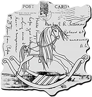 STAMPENDOUS, Cling Rubber Stamp, Rocking Horse