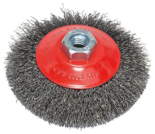 Bosch Professional Kegelbürste, gewellter Draht, 0,35 mm, 115 mm, 12500 U/min, M 14, 2608622101