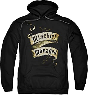 Harry Potter Mischief Managed Adult Pull Over Hoodie Black