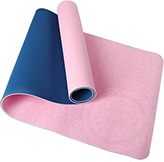 1/4In Yoga Mat, Non-Slip Texture Pro Yoga Mat Eco Friendly Exercise Mat Pad with Mesh Bag for Home Gym Fitness Workout Pilates