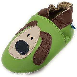 5b5517b80ed01 MiniFeet, Chaussures Bébé en Cuir Souple - Chaussons Bébé - Chaussures  Premiers Pas - 0