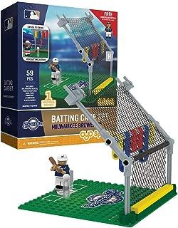 Oyo Sportstoys MLB Milwaukee Brewers Baseball Batting Cage Playset Minifigure, Small, White