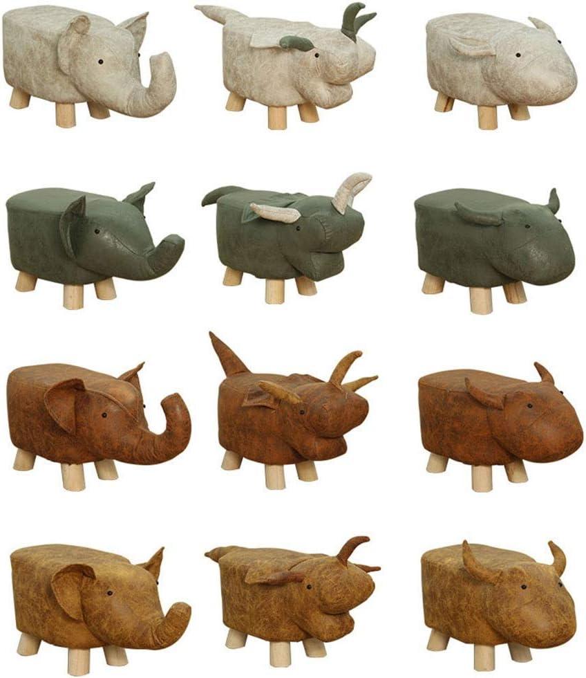 POETRY Pouf/Canapé Tabouret Tabouret en Bois Massif Banc en Bois Animal Mignon Banc créatif avec Coussin de Pied Antidérapant Mute XC (Couleur: Laiton) Brass