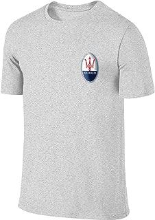 Maserati Silver Logo Fashion Funny T Shirt O-Neck for Man Black