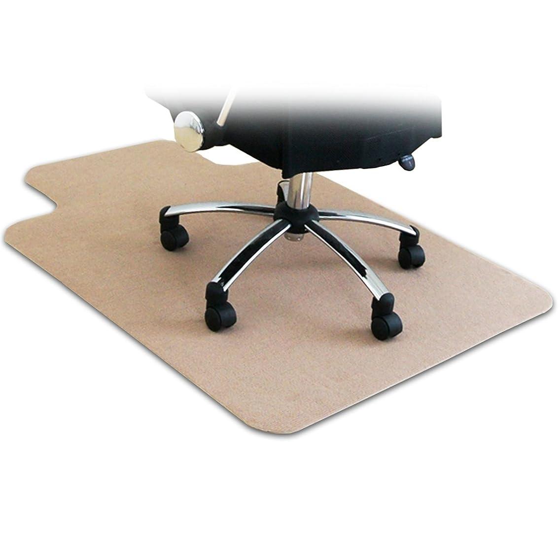 寄託メトリックまともなottostyle.jp 床を保護するチェアマット カーペットタイプ ベージュ 120cm×90cm 厚さ3mm フローリングや畳のキズ防止に 学習 机 椅子 勉強 メモ 下敷 デスクワーク 撥水 カット可能