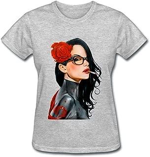 Linsa Women's G.I.Joe Baroness Design Cotton Short Sleeve T Shirt