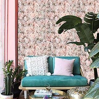 Panel Decorativo/Muro De Flores Artificiales/Clásico/caja 8pz/ (ROSA)