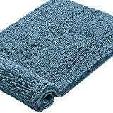 Microfiber Bath Rugs Chenille Floor Mat Ultra Soft Washable Bathroom Dry Fast Water Absorbent Bedroom Area Rugs, 24 x 42 - Inch, Dark Teal
