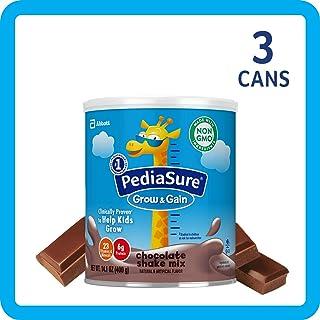 美国雅培小安素 Pediasure Grow & Gain儿童营养奶昔(2岁+) 巧克力味 3罐装(400g*3)