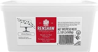 Ready to Roll Fondant Icing White 2.2lb Pail by Renshaw