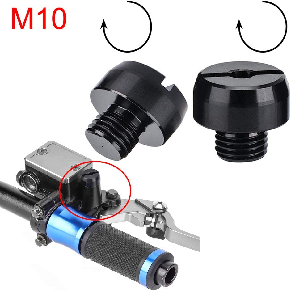 kemimoto 2Pcs M8 x 1.25 Mirror Hole Plugs Screws Motorcycle Mirrors Covers Caps Hole Aluminum Alloy CNC Fits Honda Suzuki Kawasaki Cruisers Triumphs Scooter Motorbikes