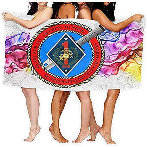 Edmun Toalla de baño 2 ° Batallón 7 ° Marines Decal Sticker Moda Toallas de baño de Playa de Gran tamaño 80X130cm