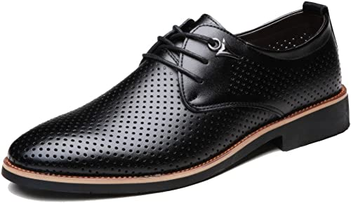 OEMPD Chaussures en Cuir pour Hommes en Cuir Véritable Conseils d'affaires pour Les Jeunes Chaussures Décontractées Chaussures à Lacets