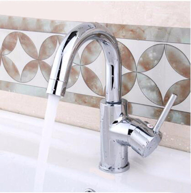 LHbox Bad Armatur in Bad für Waschbecken Waschtisch Wasserhahn Waschtischarmatur Einzigen Griff Einzelne Bohrung heien und Kalten Becken Das Waschbecken Waschbecken Wasserhahn zu Drehen.