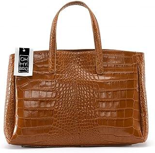8600902fd3 OH MY BAG Sac à main en cuir façon croco Be Lady