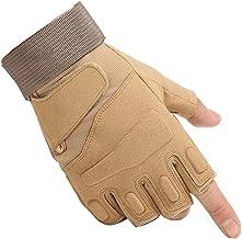 WEPOP Tactische handschoenen heren halve vinger militair hard rubber enkel vingerloos touchscreen outdoor sport voor motor...