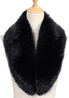 Faux Fur Collar Women's Neck Warmer Scarf Wrap Gatsby 1920s Shawl Accessories