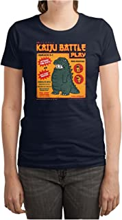 BEIIIOU Women's Kaiju Battle Play Funny Design Tshirt