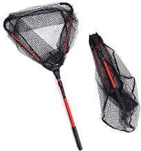 Cofemy Floating Fishing Net for Steelhead, Salmon, Fly, Kayak, Catfish, Bass, Trout Fishing for Easy Catch & Release, Comp...
