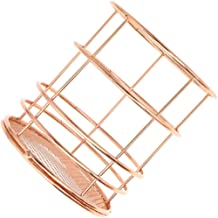 Rose Gold Metal Basket Table Storage Basket Shelf Bathroom Storage Rack Pen Holder Multi-Purpose Bathroom Storage Box Home...