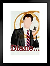 Poster Foundry Diane. Special Agent Dale Cooper Minimalist TV Show Matted Framed Wall Art Print 20x26 inch